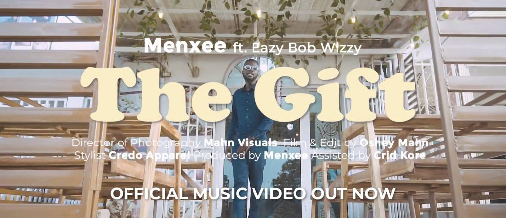 Screenshot from The Gift music video by Menxee and Eazy Bob Wizzy